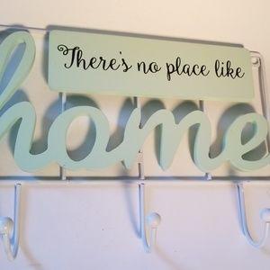 Home wall hook Theres no place like home 3 hooks